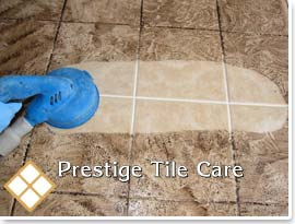 steam cleaning tile floor